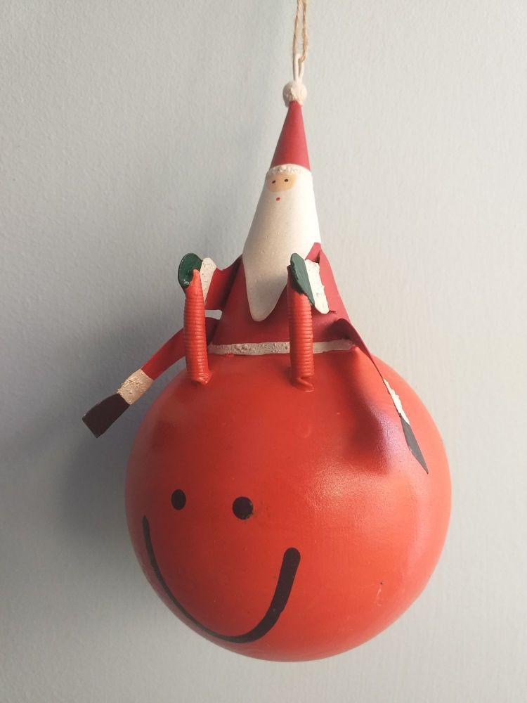 Metal Space Hopper Santa
