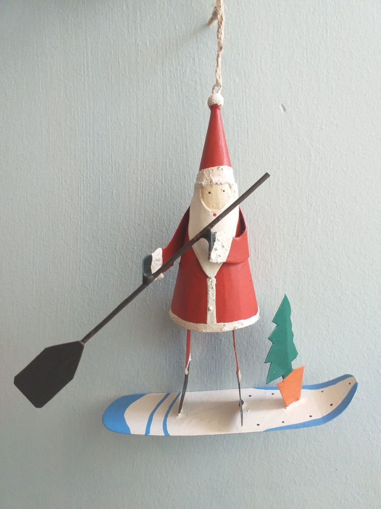 Metal Stand Up Paddle Board Santa