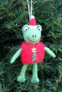 Felt Frog with Jumper