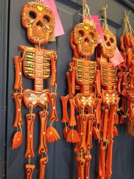 Wooden Skeleton - Red