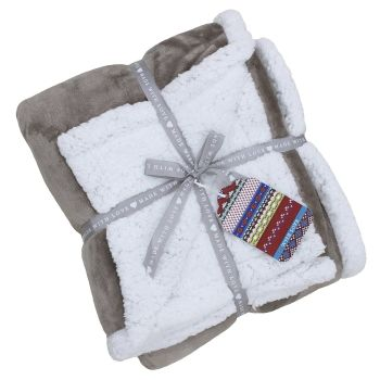 Lux Sherpa Supersoft Throw - Mocha