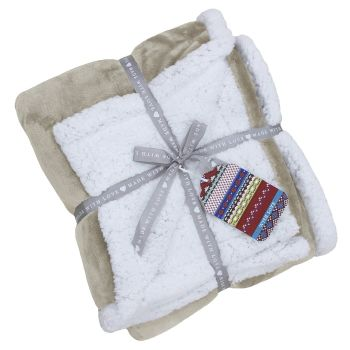 Lux Sherpa Supersoft Throw - Natural