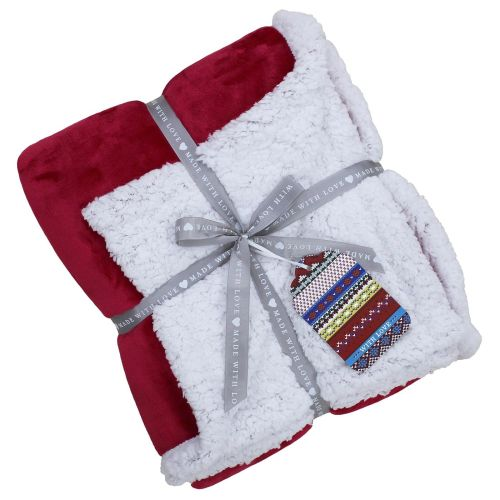 Lux Sherpa Supersoft Throw - Red