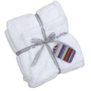 Lux Sherpa Supersoft Throw - White