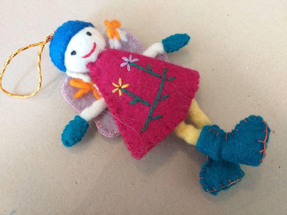 Nepalese Felt Fairy - Design 2
