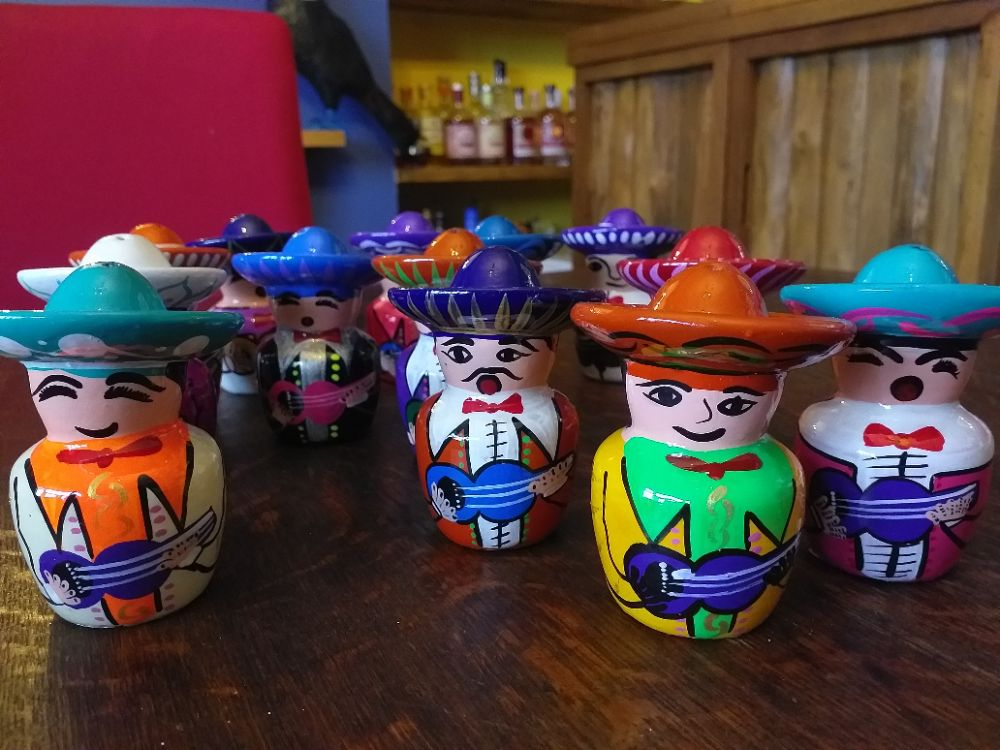 Mariachi Tequila Salt Shakers