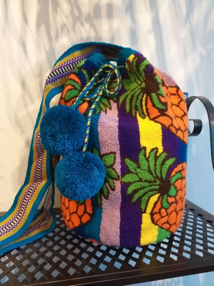 Colombian Wayuu Mochila Bag - Pineapple