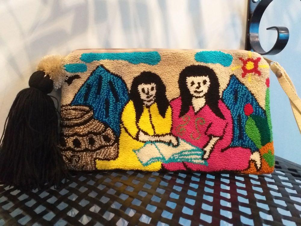 Colombian Wayuu Clutch Bag - Design 5