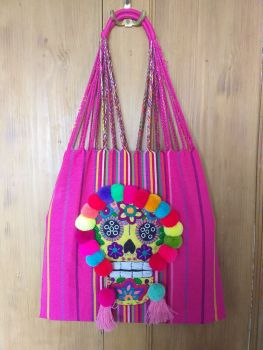 Day of the Dead Skull Bag - Pink