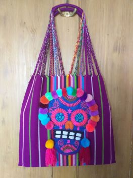 Day of the Dead Skull Bag - Purple