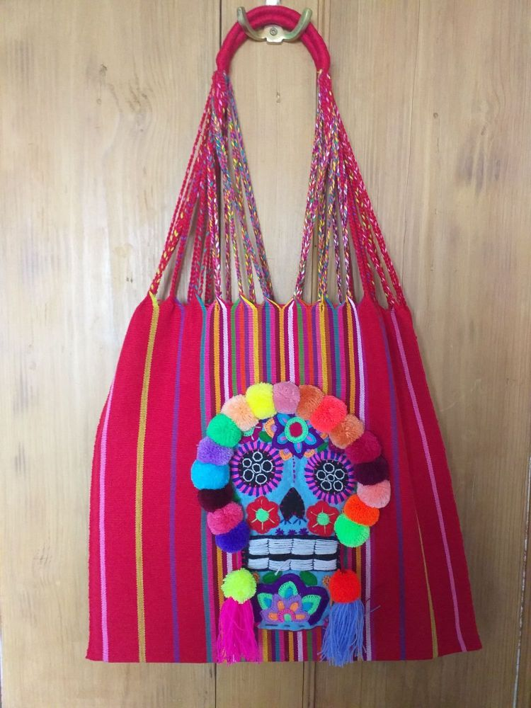 Day of the Dead Skull Bag - Red