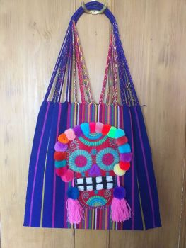 Day of the Dead Skull Bag - Royal Blue