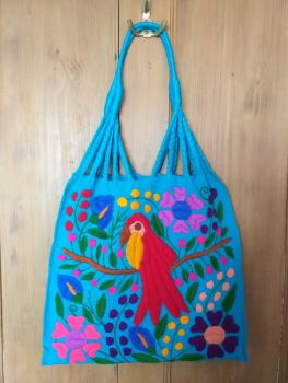 Embroidered Mexican Bag - Turquoise
