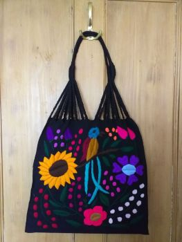 Embroidered Mexican Bag - Black 1