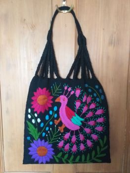 Embroidered Mexican Bag - Black 2