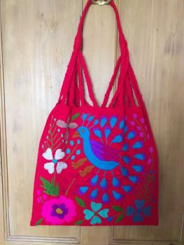 Embroidered Mexican Bag - Red 2