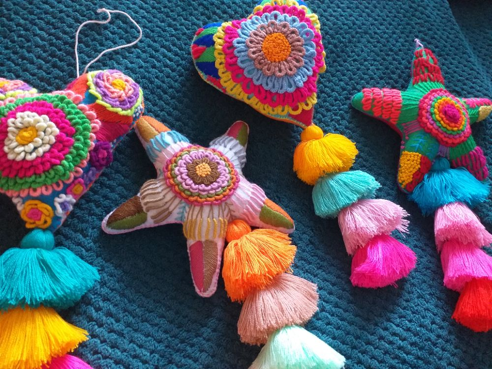 Embroidered Mexican Hangings