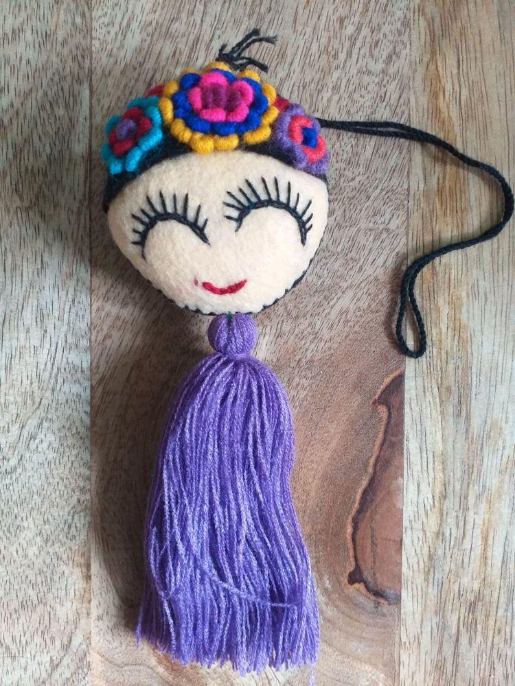 Embroidered Frida Hanging - 1