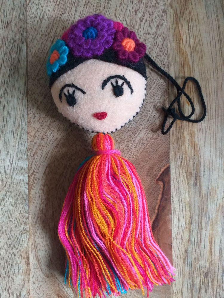 Embroidered Frida Hanging - 10