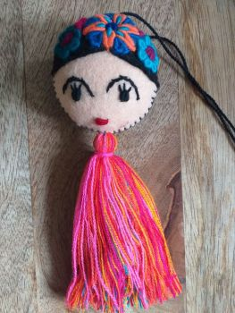 Embroidered Frida Hanging - 11