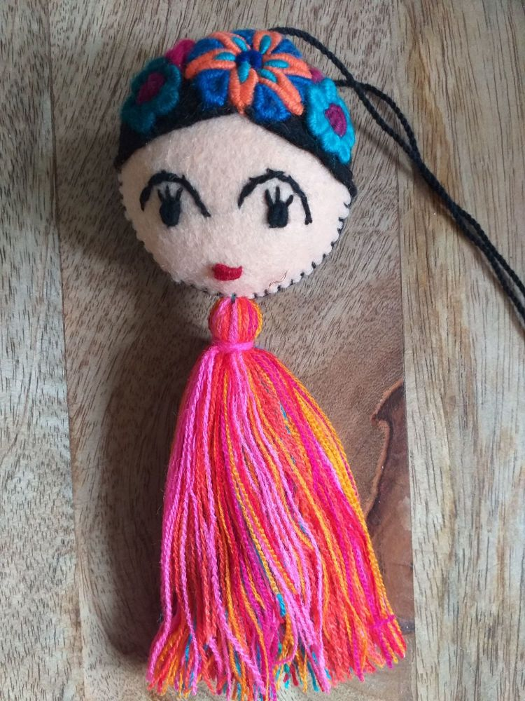Embroidered Frida Hanging - 11
