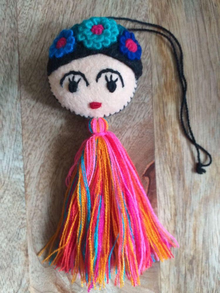 Embroidered Frida Hanging - 2