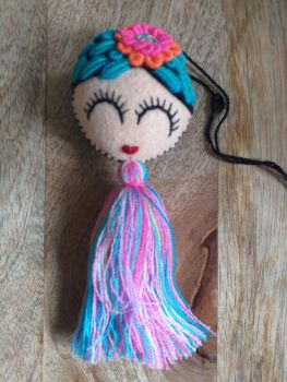 Embroidered Frida Hanging - 4