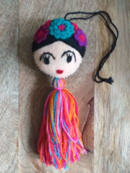 Embroidered Frida Hanging - 5
