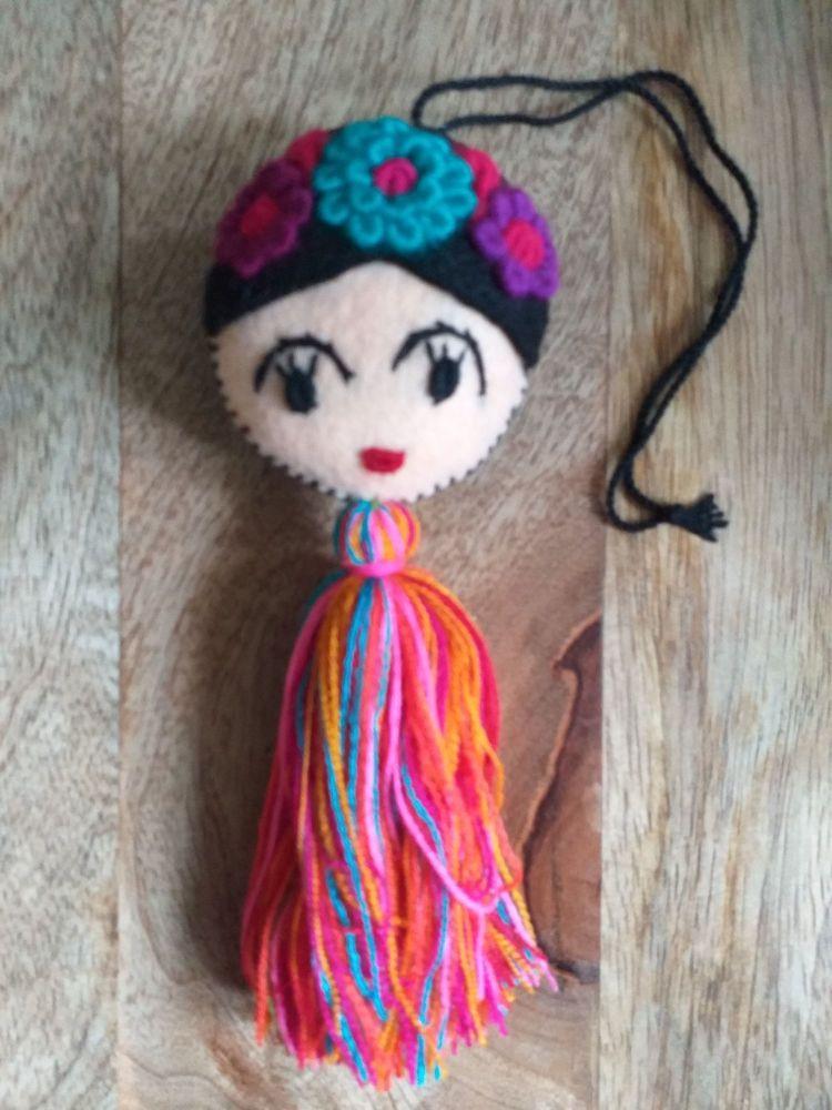 Embroidered Frida Hanging - 5