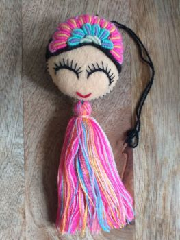 Embroidered Frida Hanging - 6