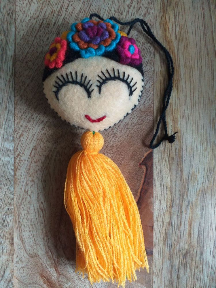 Embroidered Frida Hanging - 7
