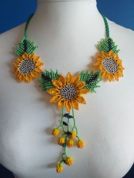 Shorter Length Beaded Necklace - Design 1