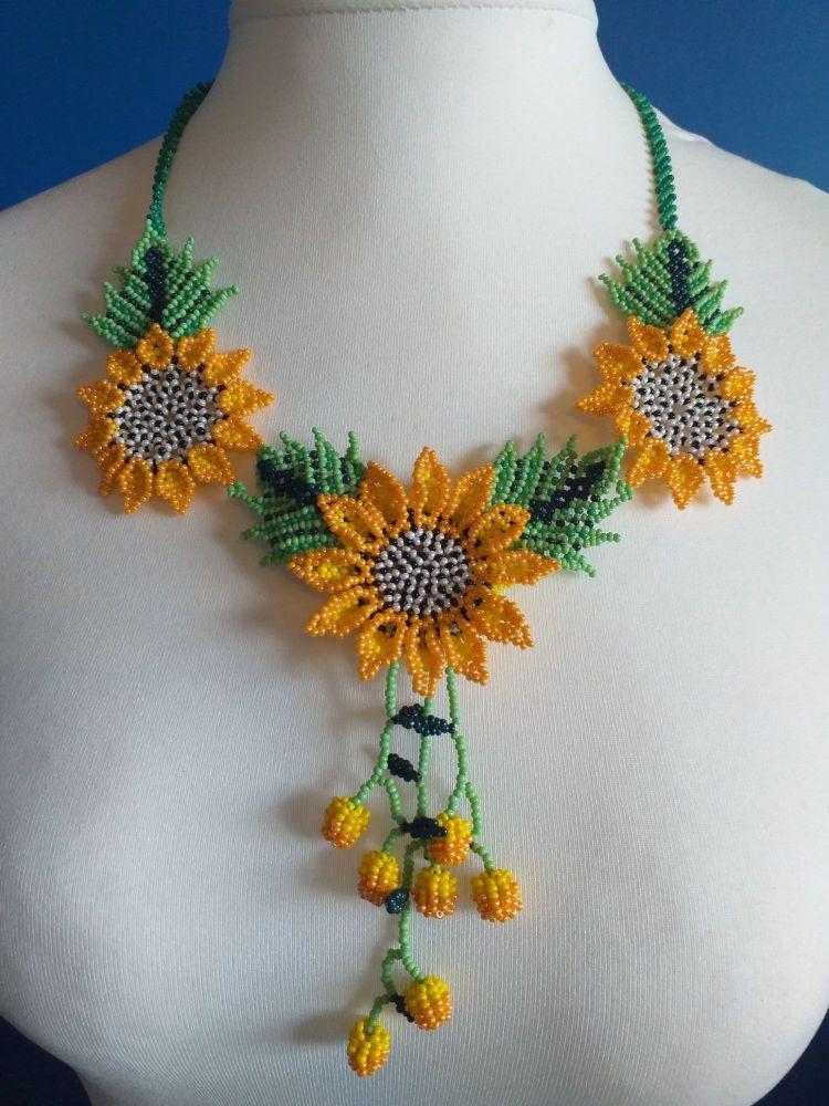 Shorter Length Beaded Necklace - Design 1