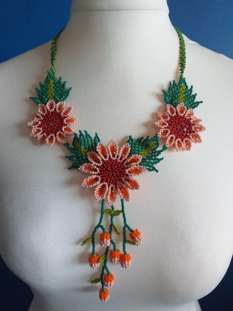 Shorter Length Beaded Necklace - Design 2