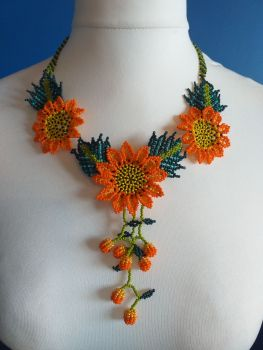 Shorter Length Beaded Necklace - Design 3