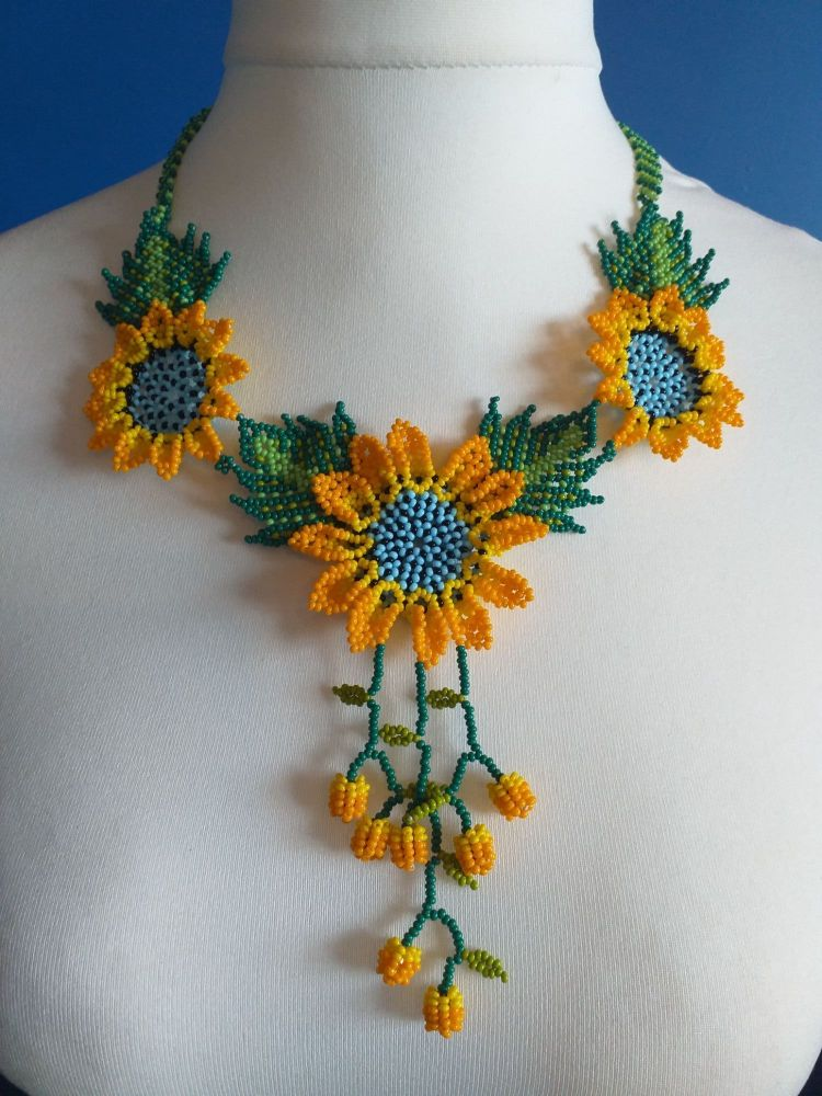 Shorter Length Beaded Necklace - Design 4