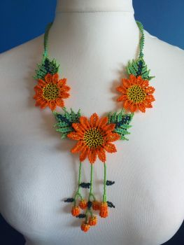 Shorter Length Beaded Necklace - Design 5