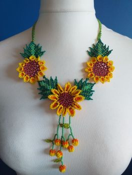 Shorter Length Beaded Necklace - Design 6