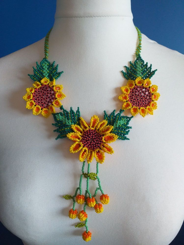 Shorter Length Beaded Necklace - Design 6