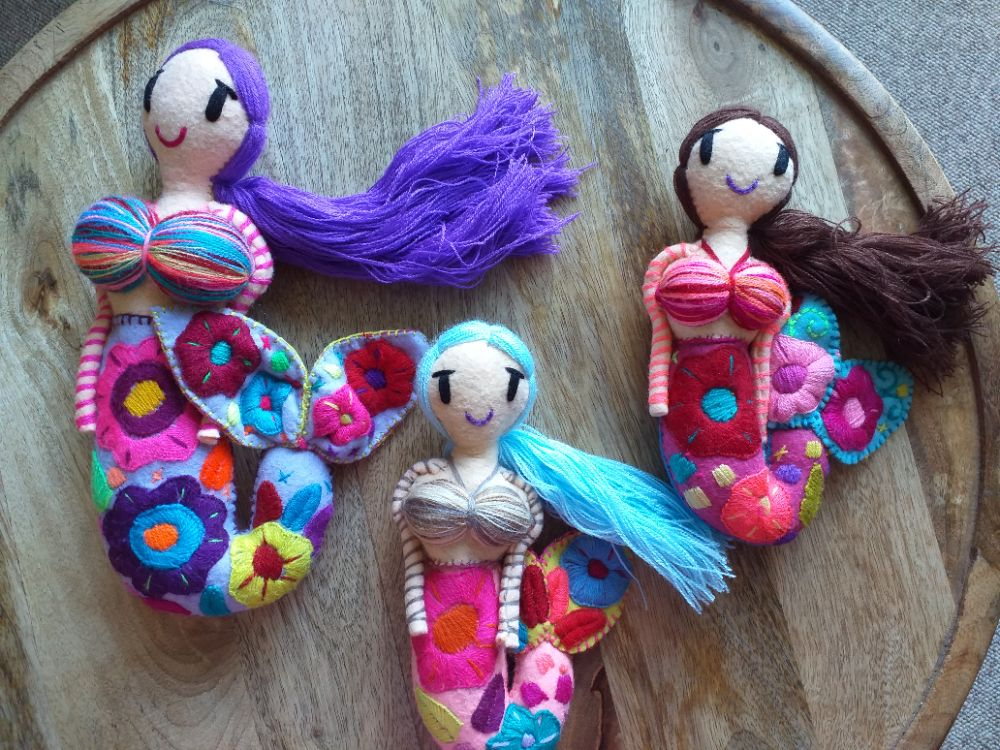 Embroidered Mermaids