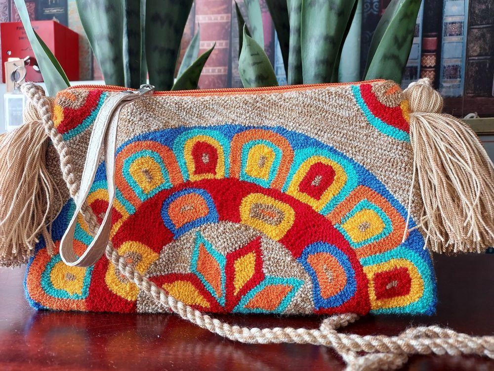Colombian Wayuu HandBag - Design O