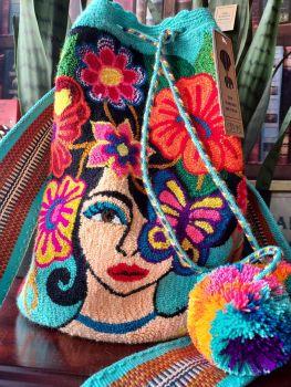 Colombian Wayuu Mochila Bag - Design A