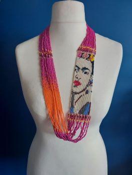 Frida Beaded Necklace - Pink