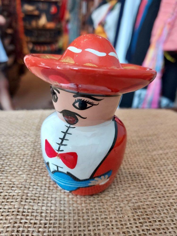 Mariachi Tequila Salt Shaker -D