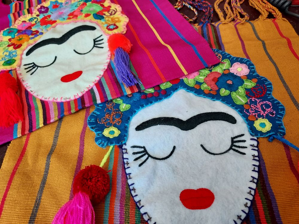 Embroidered Frida Bags