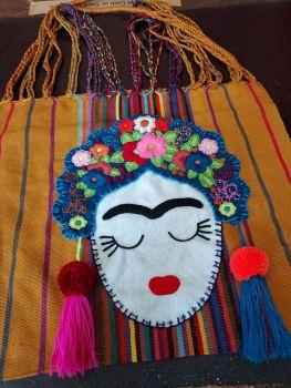 Embroidered Frida Bag - Mustard