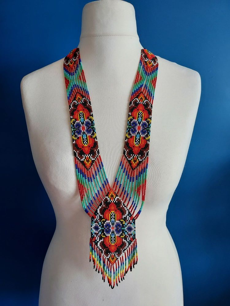 Tribal Multi Coloured Beaded Necklace