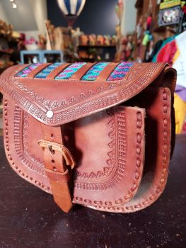 Mexican Leather Bag - 13