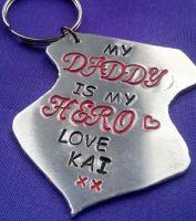 Personalised Medal Keyring