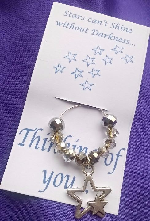 Thinking of You Gift - Wine Glass Charm
